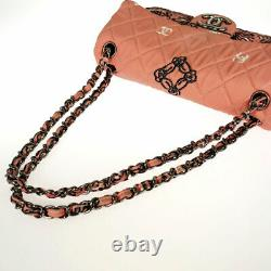 Chanel Bandana Motif Imprimé Chainshoulder Pink Canvas Cross Body From Japan