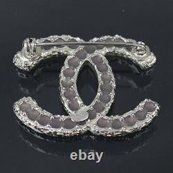 Chanel CC Mark Brooch Pink Rhinestone A13c #49595 Livraison Gratuite Du Japon