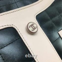 Chanel Chain Epaule Combinaisons Veste Sac Rose Noir Rare Utilisé Du Japon