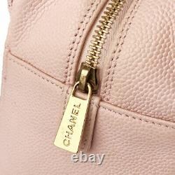 Chanel Chainshoulder Coco Mark A18004 Rose Caviar Peau Tote Bag Du Japon