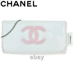 Chanel Nouveauté Mini Sac Rose Blanc Kawaii Pouch Rare Nouveauté F/s Du Japon