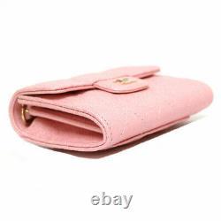 Chanel Peau D'agneau Matrasse Mini Chaîne Sac À Épaule Rose Du Japan