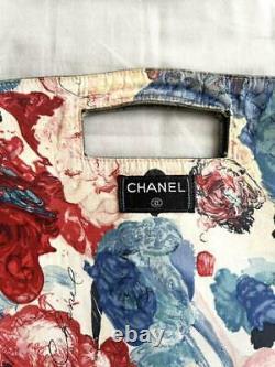 Chanel Sac À Main Réversible Denim Floral Cruise Line Rose Vintage Du Japon