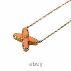Chaumet Or Rose 18k(750) Ju De Lian 1p Collier Diamant Orange Du Japon