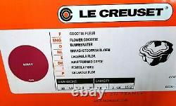 Couleur Très Rare! Le Creuset Flower Cocot Fleur Berry 2.25usqt Limited From Japan