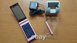 Docomo Fujitsu F06d Happy Pink Mobile Phone Unlocked Utilisé Du Japon #11