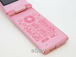 Docomo Sharp Sh-03e Pink Flip Phone Téléphone Portable Déverrouillé Utilisé Depuis Le Japon