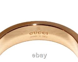 Gucci Anneau Rose Or Rose K18pg Icon Taille Us4.5 From Japan No Case Near Mint++