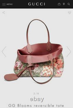 Gucci Gg Blooms & Beige Reversible Tote Bag Femmes Utilisées Du Japon F/s Fedex Rsmi