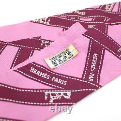 Hermès 100% Soie Twilly Écharpe Bolduc / Pink #53454 Livraison Gratuite Du Japon