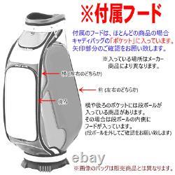Honma Golf Honma 9,5 Type 4,2 KG Caddy Bag Cb-12003a Blanc / Rose Du Japon