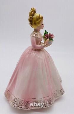 Josef Originals Fleuriste Fille De Carrière Série Robe Rose Holding Bouquet 7