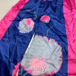 Junya Watanabe Comme Des Garcons Auth Satin Pantalons Rose X Bleu S Utilisé Du Japon