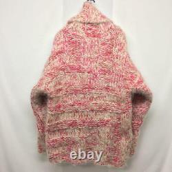 Kansai Yamamoto Big Kint Sweater Wool Mohair Pink Men's Vintage Rare From Japan