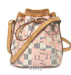 Louis Vuitton Nano Noe Damier Azur Rose Ballerine N60052 #52658 Du Japon