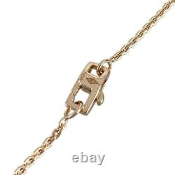 Louis Vuitton Pandan Tiff 18k Pink Gold Diamond Cleaned Necklace From Japan