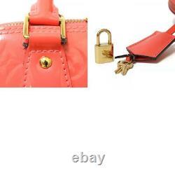 Louis Vuitton Sac À Main M90976 Rose Chaud Rose Monogram Vernis Alma Du Japon