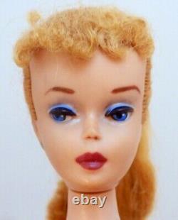 Mattel Vintage Barbie #4 Blond Poupée De Cheveux Avec Maillot De Bain Rose Du Japon F/s