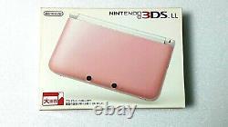 Nintendo 3ds LL Pink X White Handheld System Nouveau Du Japon