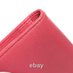 Prada Bifold Wallet Pink 1mv204 #50721 Livraison Gratuite Du Japon