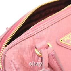 Prada Sac À Épaule Bl0841 Rose Tamaris Enfants Petit Safiano De Japan Utilisé