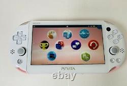 Ps Vita Light Pink White Pch 2000 Za19 Console D'occasion Avec Chargeur En Provenance Du Japon