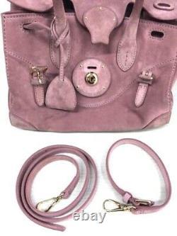 Ralph Lauren Authentic Soft Ricky Epaule Bag Cross Body Bag Utilisé Du Japon