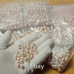 S 8-8.5mm Hanadama Authentique Rare Akoya Pearl Pink From Japan Wholesale Loose 2pc