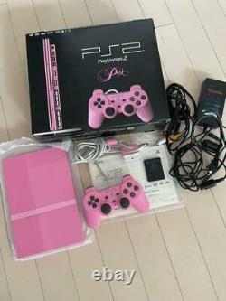 Sony Ps2 Playstation 2 Rose Mince Japonais Ntsc-j Scph-77000 Du Japon Importation