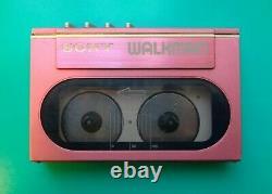 Sony Wm-20 Lecteur De Cassette Walkman, Rose! Extraits De La Collection Personnelle