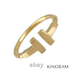 Tiffany&co. T Fil 18k Pink Gold (750) 51 Anneau Du Japon