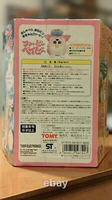 Tomy Furby Bébé Rose / Blanc Japonais Figure Vintage Nouveau Non Ouvert De Japan F/s