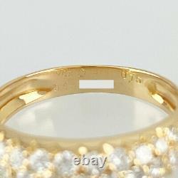 Van Cleef & Arpels Or Rose 18k (750) Diamant Pave 49 Anneau Nettoyé Du Japon