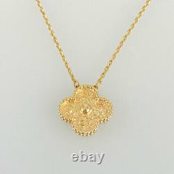 Van Cleef & Arpels Vintage Alhambra Or Rose 18k(750) Collier Du Japon